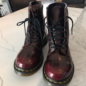 Dr. Martens black cherry Boots NWOB